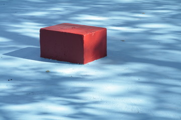 red cube sitting in swimming pool, Netherlands