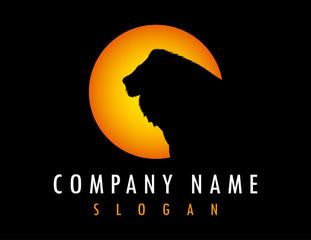 Lion sun logo