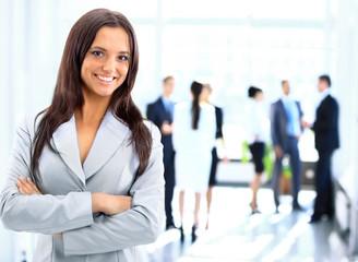 Fototapeta Successful business woman standing obraz