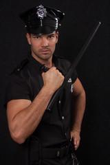 Serious policeman