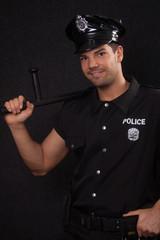Policeman smiling