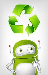 Foto auf Leinwand Roboter Green Robot