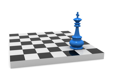 VICTORY. Chess board with king