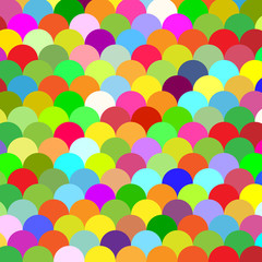 abstract colorful background scales