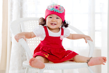 Portrait of a cute asian baby girl