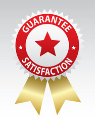 Label - Guarantee and satisfaction. Vector