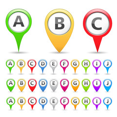 Map Markers with Different Symbols