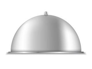 Platter on white background