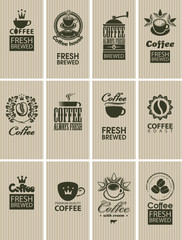 set of vintage cards on coffee