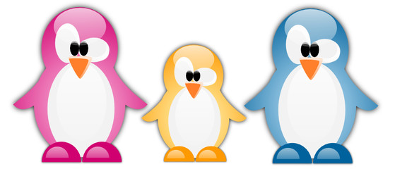 Cool penguin family