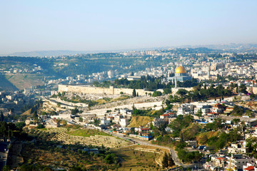 Jerusalem, view of old city.