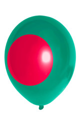 Balloon colored in  national flag of bangladesh