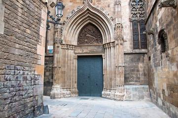 The Gothic Quarter in Barcelona.Spain.