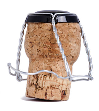 Isolated Champagne Cork