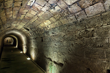 Wall Mural - Templar Tunnel in Acco