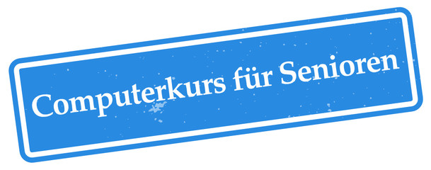 Wall Mural - Computerkurs für Senioren