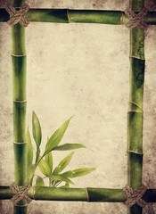cornice bambù carta antica