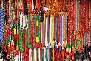 Wall Murals Nepal Handcrafted beads in lockal shop, Nepal.