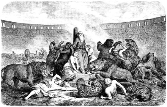 Christian Martyrs in Arena - Ancient Rome