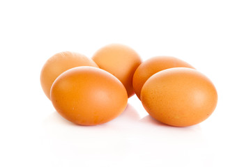 eggs isolatedon white background