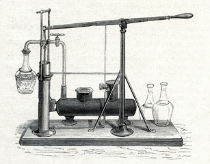 Ice-making device of Edmond Carre (ca. 1850)