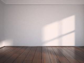 white empty interior