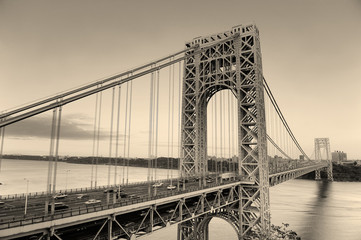 Fototapete - George Washington Bridge black and white