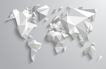 Triangle-world Map illustration