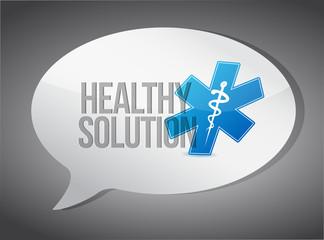 healthy solution message illustration design