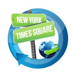 New York, Times square road symbol illustration
