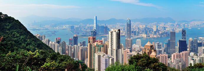 Hong Kong mountain top view