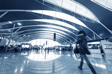passenger in the shanghai pudong airport