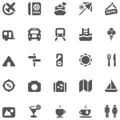 travel gray icons