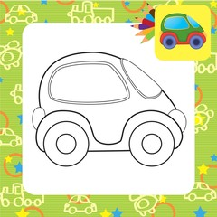 Vector toy car for coloring