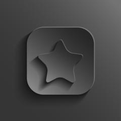 Star icon - vector black app button