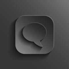 Speech icon - vector black app button