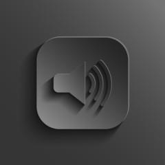 Speaker icon - vector black app button