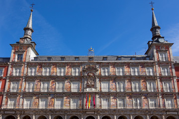 Architecture at Plaza Mayor  in Madrid, Spain /  Casa de la Pana