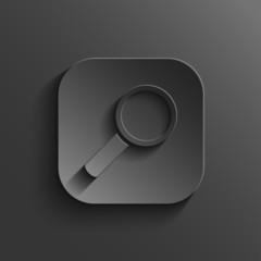 Search icon - vector black app button