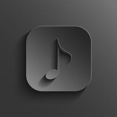 Note icon - vector black app button
