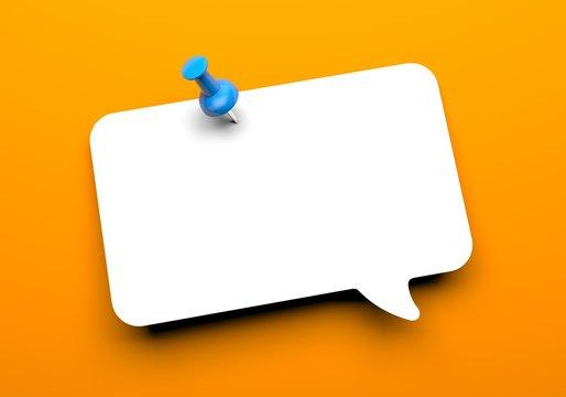 Speech cloud with pin