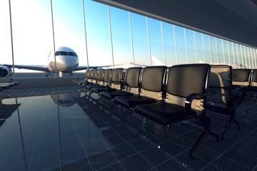 Fotobehang Luchthaven Airport.