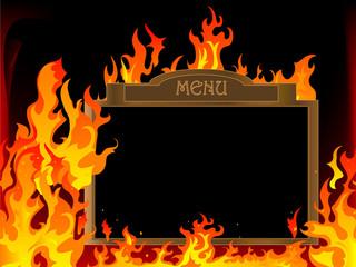 Fototapete - Hot menu