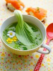 grüne Sommersuppe