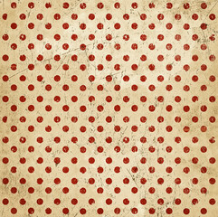 Vintage abstract background, polka dots, grunge texture