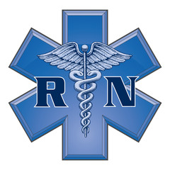 Registered Nurse Star of Life Medical Symbol