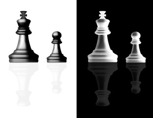 Chess reallistic pieces