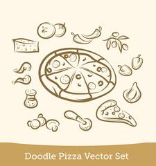 doodle pizza set