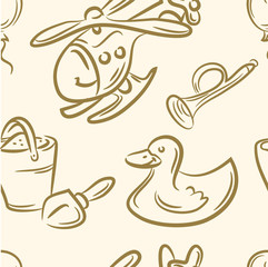 seamless pattern. doodle Toy set