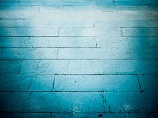 Blue floor tile in grunge style